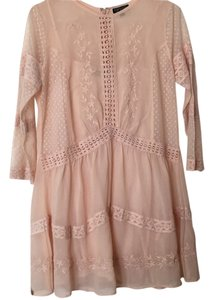 Topshop short dress Pink on Tradesy