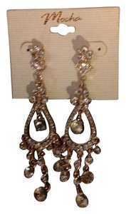 Mocha Gold Chandiliar earrings