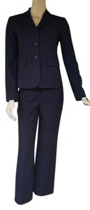 Nine West NINE WEST Navy Blue Striped Pantsuit Pants Suit 4P Petite 4