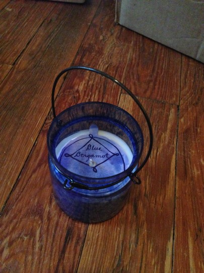 6 Brand New Blue Hanging Candle Votives Lantern