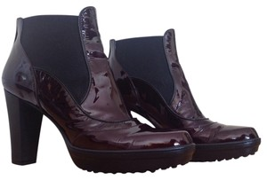 Tod's Tods Bootie Leather Burgundy Boots