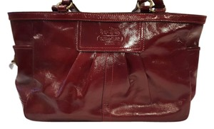 Coach Patent Leather Classic Satchel in Red