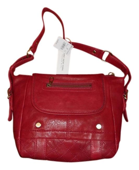 Item - Of By Andrew Women Backstage Flap Red Leather Shoulder Bag