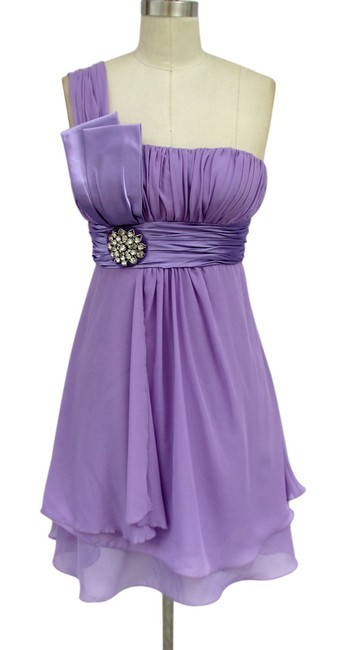 Preload https://item2.tradesy.com/images/purple-one-shoulder-chiffon-w-rhinestones-ornament-knee-length-formal-dress-size-16-xl-plus-0x-125476-0-0.jpg?width=400&height=650