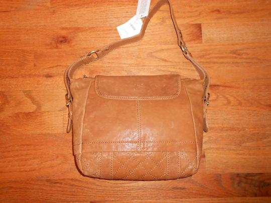 Marc New York Of Ny Leather Tan Fawn Quilted Shoulder Bag