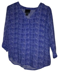 Cynthia Rowley Top Royal Blue, Black, White