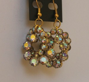 Beautiful Vintage Sparkly Double-O Earrings