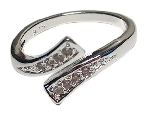 New 925 Silver Plated Adjustable Ring Size 8 Cubic Zirconia J2162