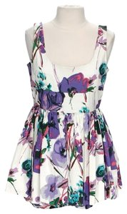 BB Dakota short dress Multi-Color Floral Skater Pleat on Tradesy