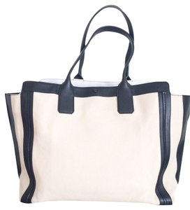 Chloe Alison Tote in Cream & Black