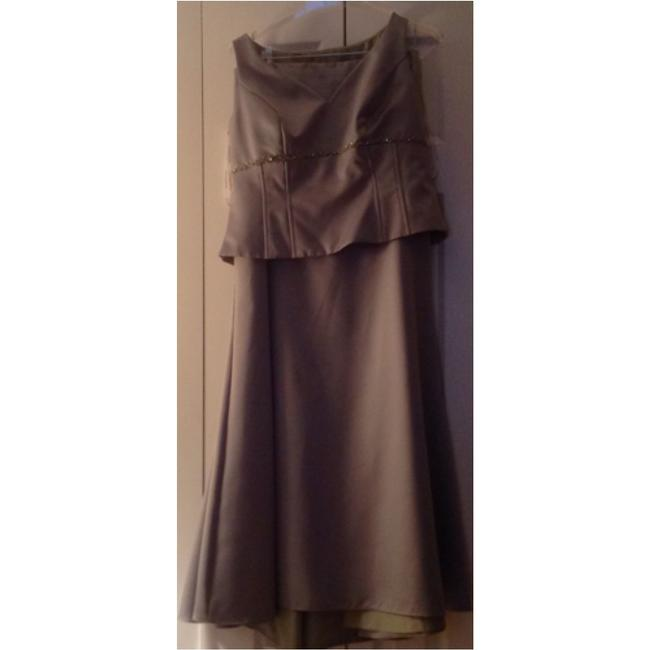 Item - Mint Green Polyester 2 Piece Halter and Long Skirt Formal Bridesmaid/Mob Dress Size 12 (L)