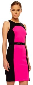 Michael Kors short dress Black and Neon Pink on Tradesy