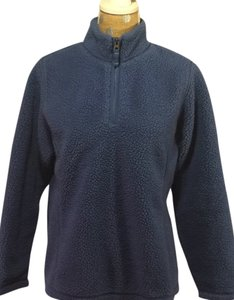 Lands' End Fleece Half Zip Turquoise Sweater