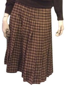 Valentino Vintage Skirt Brown & Creme