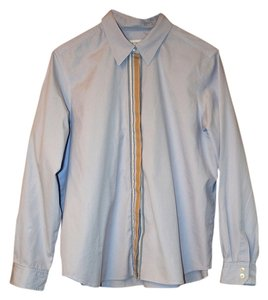 Liz Sport Button Down Shirt Light blue