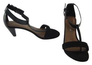 Donald J. Pliner Leather Suede Black Sandals