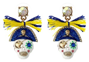 Betsey Johnson Pirate Skull Ship Shape Earrings