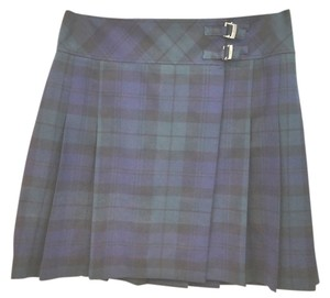Brooks Brothers Plaid Wool Wrap Skirt