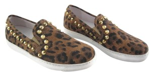 STOKTON Leather Animal Print Flats