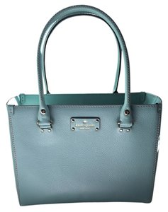 Kate Spade Leather Satchel in Light Blue