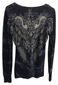 Affliction Wings Silverfoil Livefast Top Black