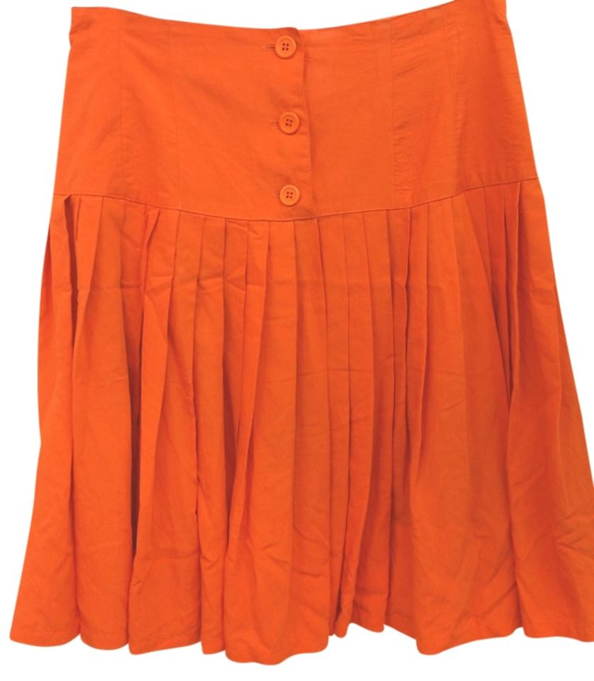 united colors of benetton orange pleated 44 size 10 m 31