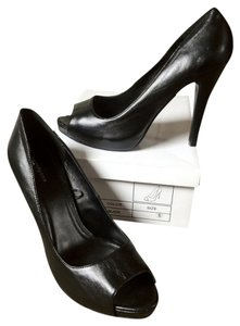 Forever 21 Stiletto Peep Toe Black Pumps