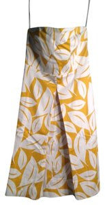 New York & Company short dress Yellow And White on Tradesy