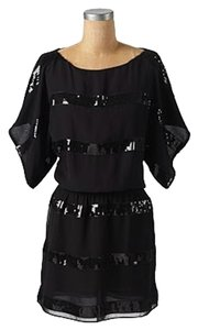 Jessica Simpson Lbd Sequin Kimono Striped Dress