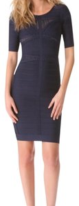 Hervé Leger Herve Fitted Tight Dress