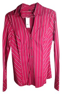 Express Button Down Shirt Magenta/maroon