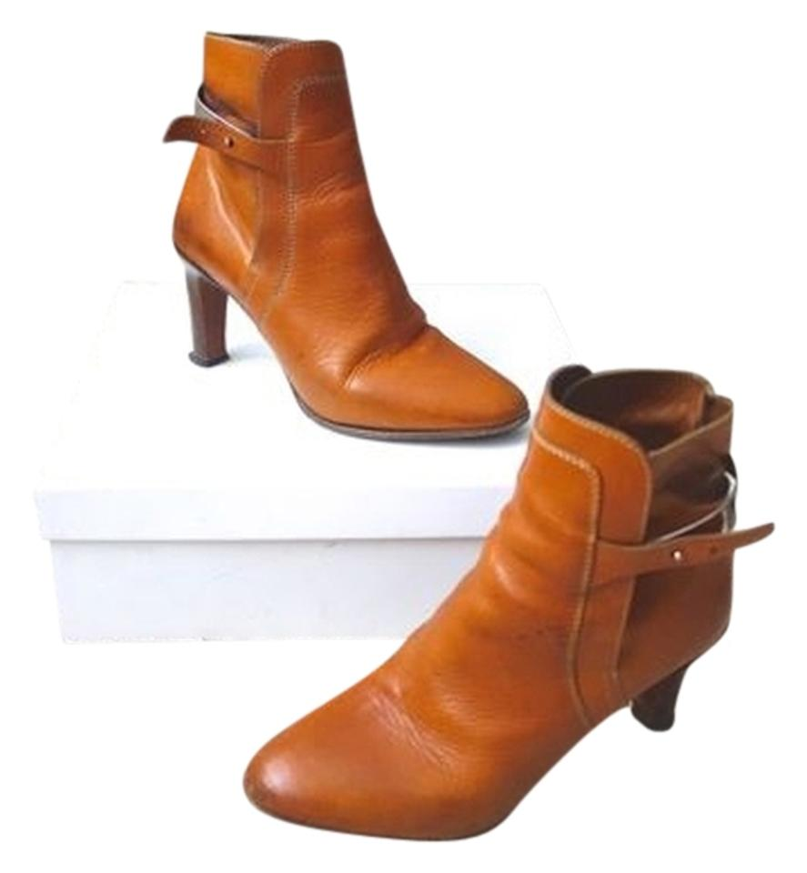 Chloé Brown Tuscon High-heel Calf Leather High-heel Tuscon Ankle Boots/Booties 853eed