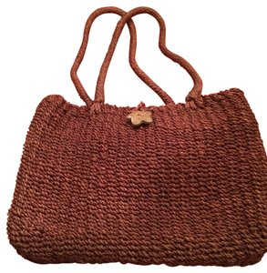 Preview Collection Brown Tote in Straw