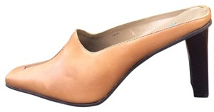 Nicole Slip On Leather Tan with Black Mules