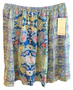 Ella Moss Mini Skirt Blue multi floral