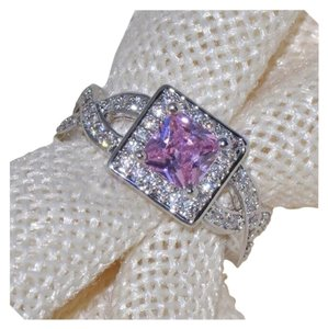 Other 3CT Pink Topaz 100% White Gold Filled