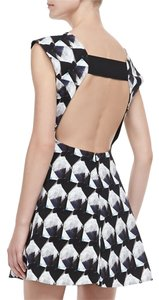 Theory Fit And Flare Backless Short Dress