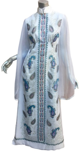Item - White Vintage Caftan Long Cocktail Dress Size 10 (M)