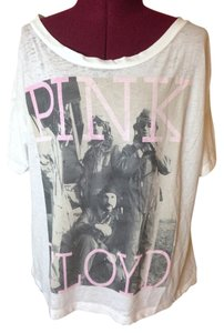 Chaser Relaxed Fit Lightweight Tee Pink Floyd T Shirt White