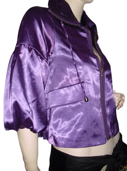 Item - Purple Satin Victorian Puff Sleeves @ Fashionista Style Boutique Jacket Size 12 (L)