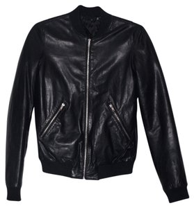 BLK DNM Leather Bomber Flight Waxed Leather Jacket