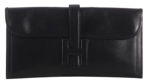Hermès Black Leather Hr.k0201.04 Clutch