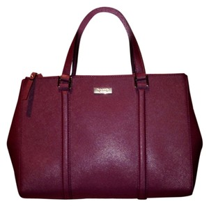 Kate Spade Saffiano Leather Satchel in Mulled Wine