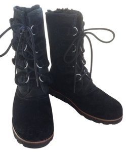 UGG Australia Leather Black Boots