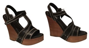Miu Miu Black Wedges