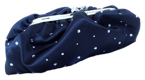 Saks Fifth Avenue Satin Chain Which Can Be Carried Over The Shoulder Black Clutch
