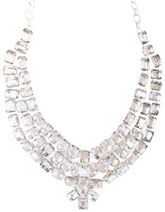 Other Gorgeous Royal White Topaz 925 Sterling Silver Statement Necklace