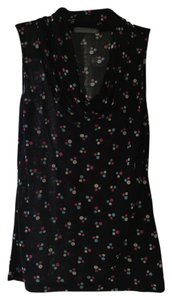 Olivia Moon Top Black with multi-dots