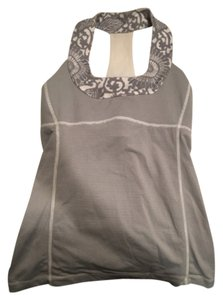 Lululemon Top Grey/White
