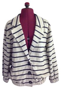 American Apparel Blazer Button Down Striped Cardigan